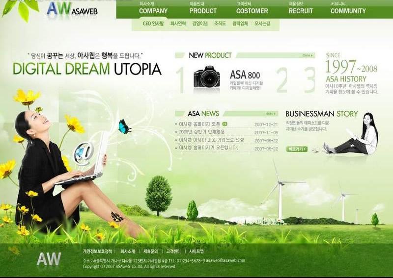 網頁設計素材的分類