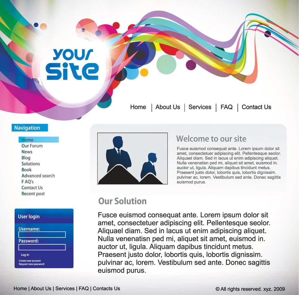 如何發揮網頁設計素材的裝飾作用