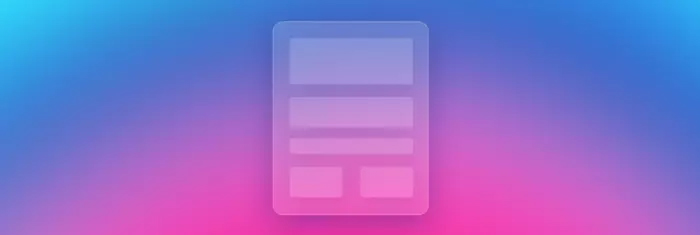 Glassmorphism,或成為2021年熱門網頁設計趨勢